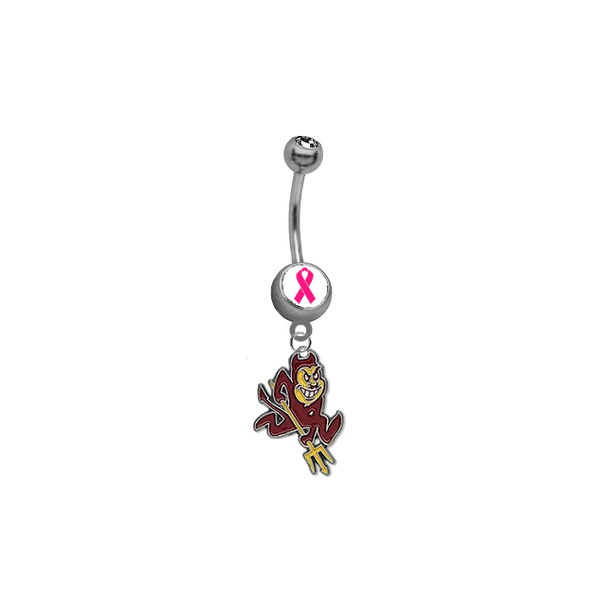 Arizona State Sun Devils Beast Cancer Awareness Belly Button Navel Ring