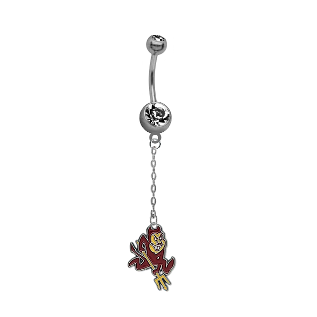 Arizona State Sun Devils Dangle Chain Belly Button Navel Ring