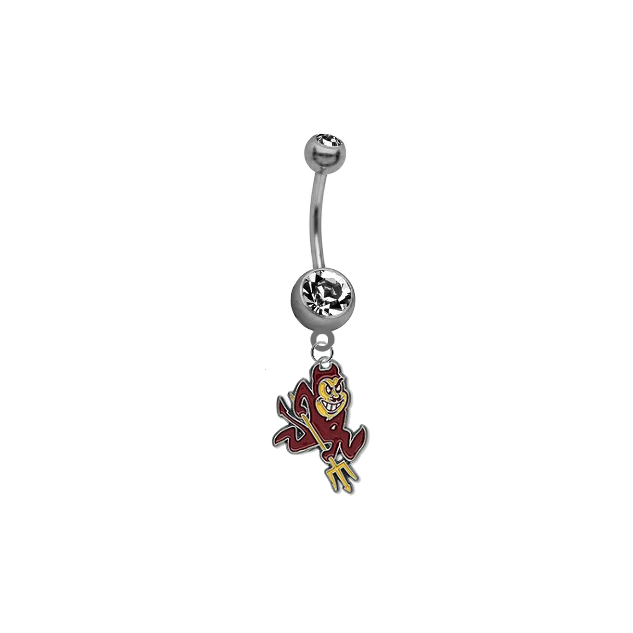 Arizona State Sun Devils NCAA College Belly Button Navel Ring