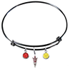 Arizona State Sun Devils Style 2 Black NFL Expandable Wire Bangle Charm Bracelet
