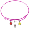 Arizona State Sun Devils Style 2 Pink NFL Expandable Wire Bangle Charm Bracelet