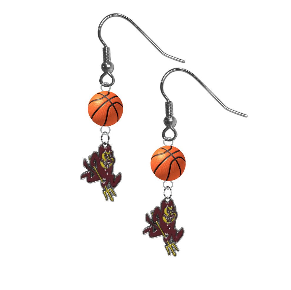 Arizona State Sun Devils NCAA Basketball Dangle Earrings