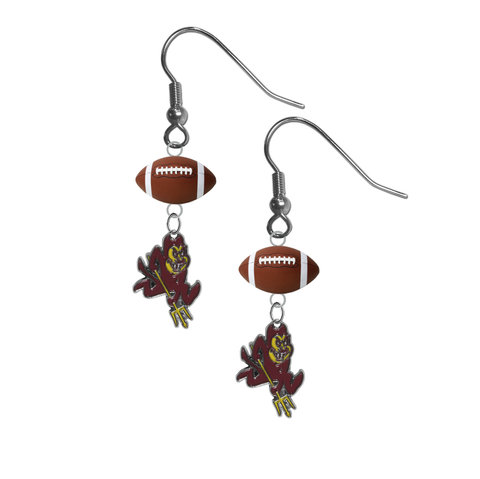 Arizona State Sun Devils NCAA Football Dangle Earrings