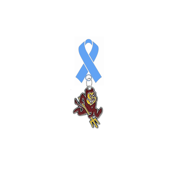 Arizona State Sun Devils Prostate Cancer Awareness / Fathers Day Light Blue Ribbon Lapel Pin