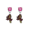 Arizona State Sun Devils PINK Swarovski Crystal Stud Rhinestone Earrings