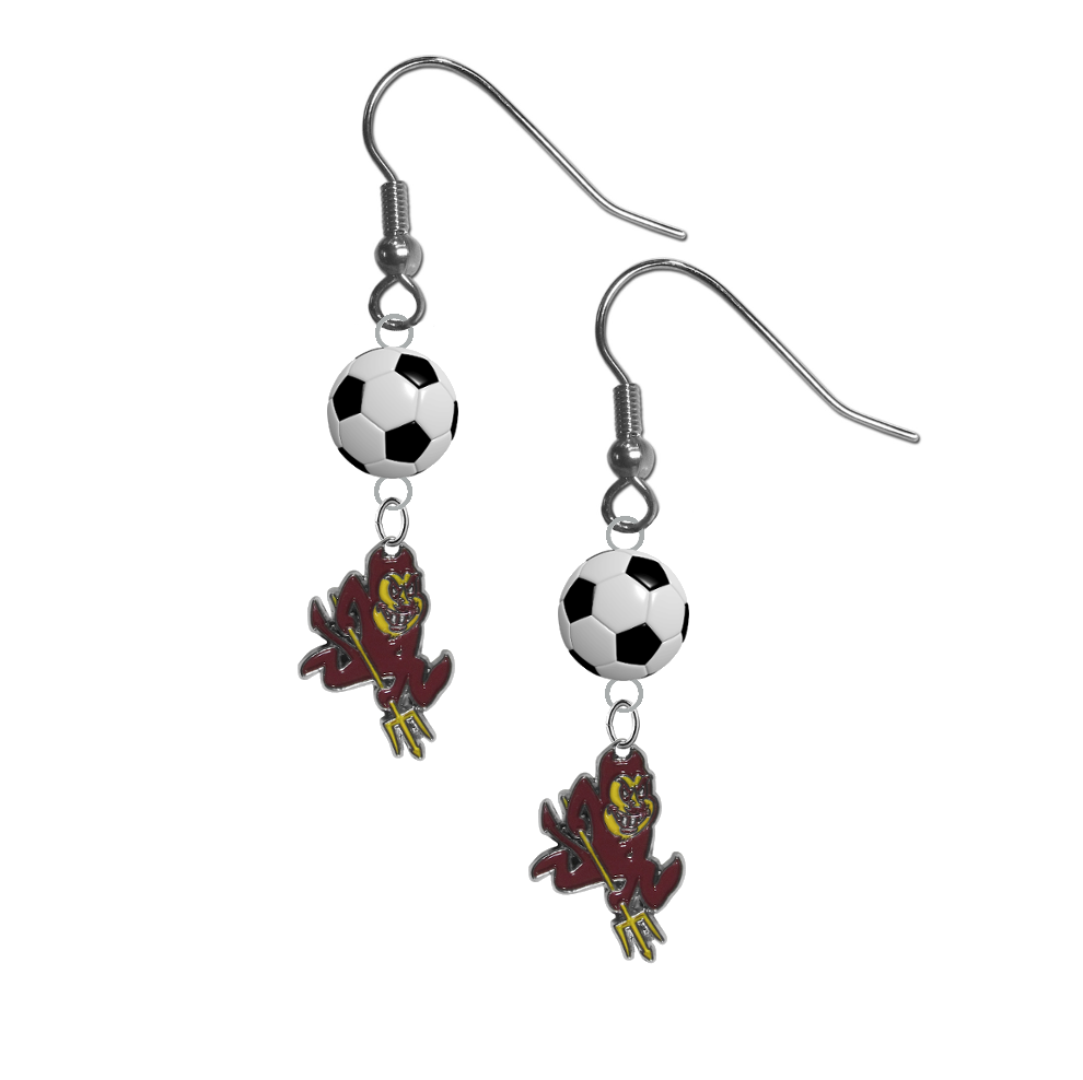 Arizona State Sun Devils NCAA Soccer Dangle Earrings