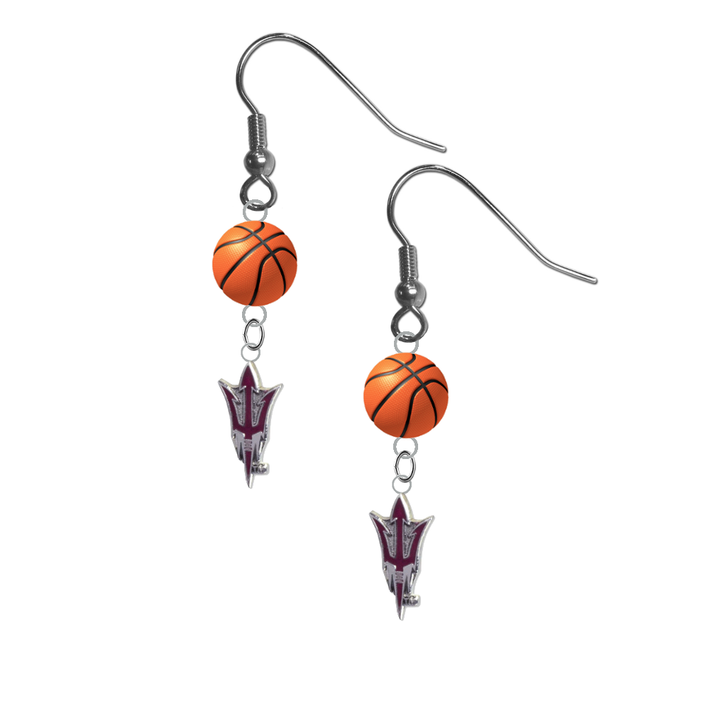 Arizona State Sun Devils Style 2 NCAA Basketball Dangle Earrings