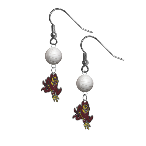 Arizona State Sun Devils NCAA Volleyball Dangle Earrings
