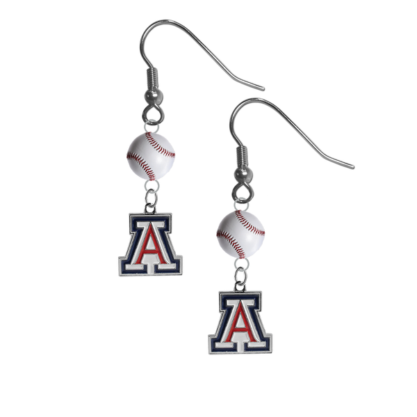 Arizona Wildcats NCAA Baseball Dangle Earrings
