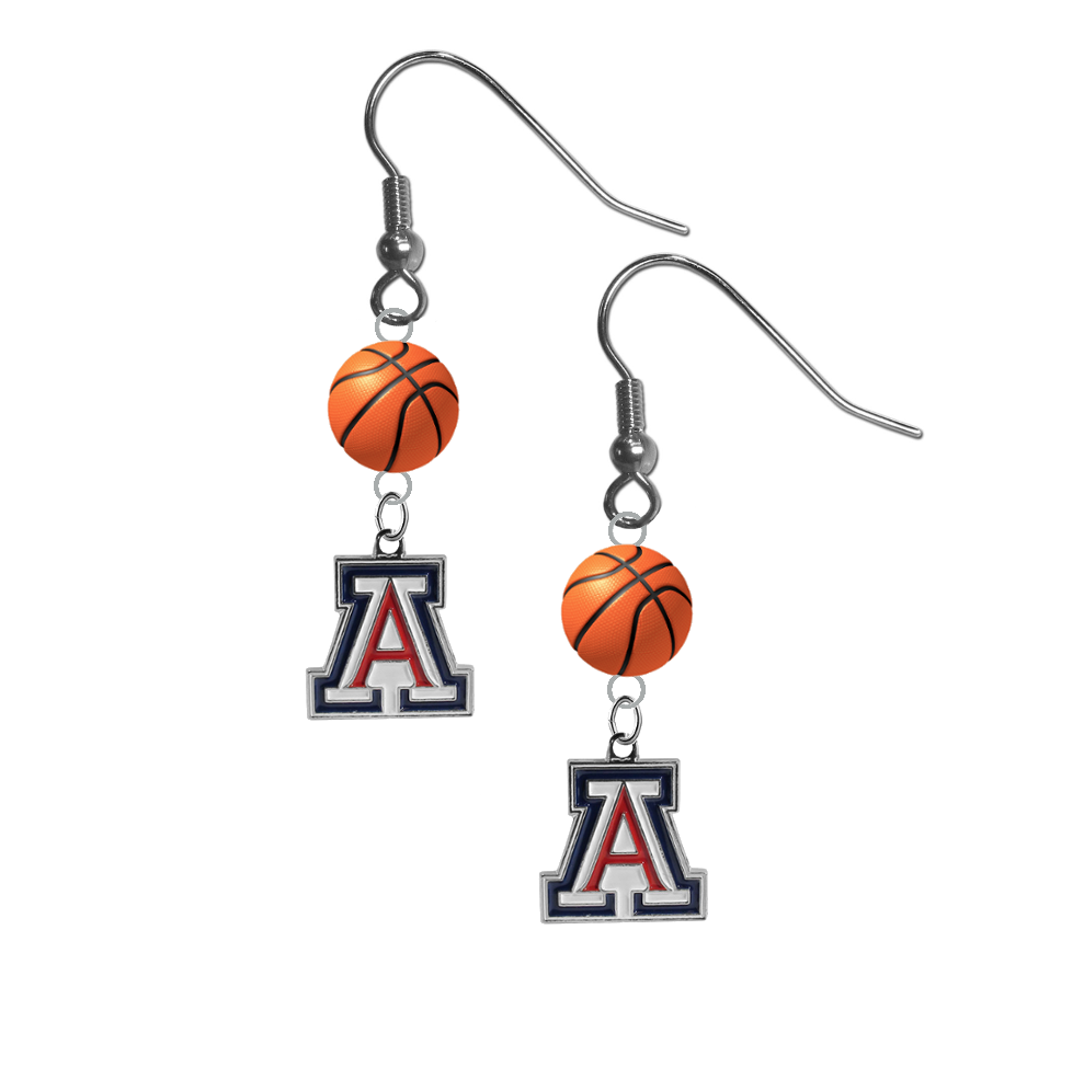 Arizona Wildcats NCAA Basketball Dangle Earrings