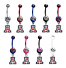 Arizona Wildcats NCAA College Belly Button Navel Ring - Pick Your Color
