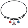 Arizona Wildcats Black NCAA Expandable Wire Bangle Charm Bracelet