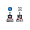 Arizona Wildcats BLUE & CLEAR Swarovski Crystal Stud Rhinestone Earrings