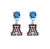 Arizona Wildcats BLUE Swarovski Crystal Stud Rhinestone Earrings