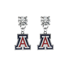 Arizona Wildcats CLEAR Swarovski Crystal Stud Rhinestone Earrings