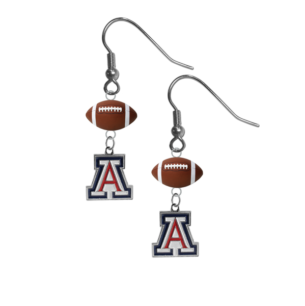 Arizona Wildcats NCAA Football Dangle Earrings