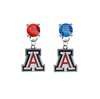 Arizona Wildcats RED & BLUE Swarovski Crystal Stud Rhinestone Earrings