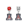 Arizona Wildcats RED & CLEAR Swarovski Crystal Stud Rhinestone Earrings