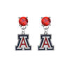 Arizona Wildcats RED Swarovski Crystal Stud Rhinestone Earrings