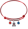 Arizona Wildcats Red NCAA Expandable Wire Bangle Charm Bracelet