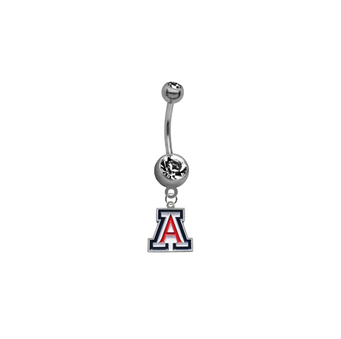 Arizona Wildcats NCAA College Belly Button Navel Ring
