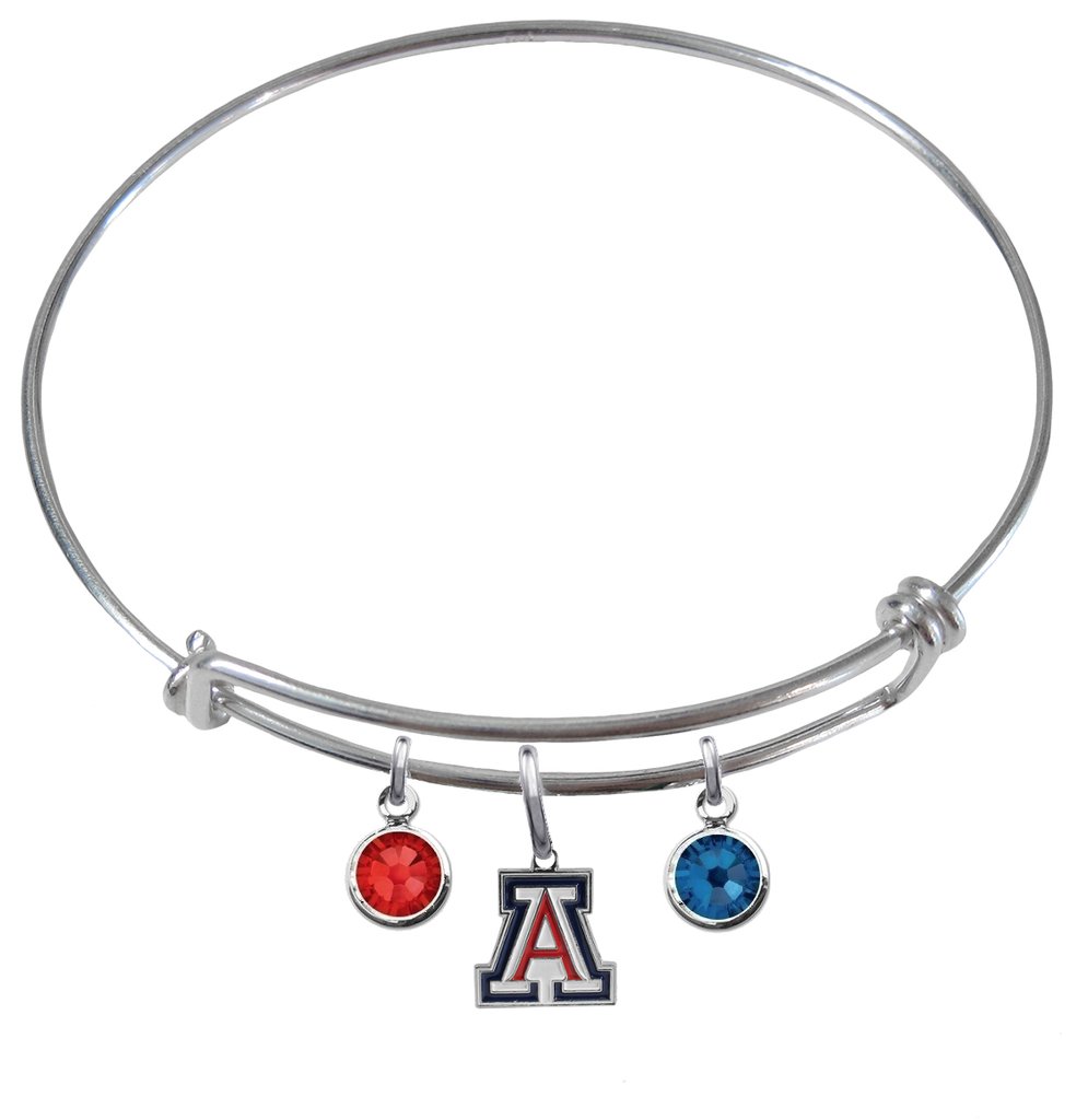 Arizona Wildcats NCAA Expandable Wire Bangle Charm Bracelet