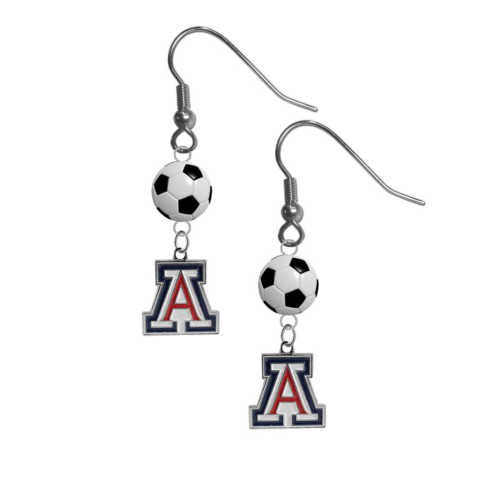 Arizona Wildcats NCAA Soccer Dangle Earrings