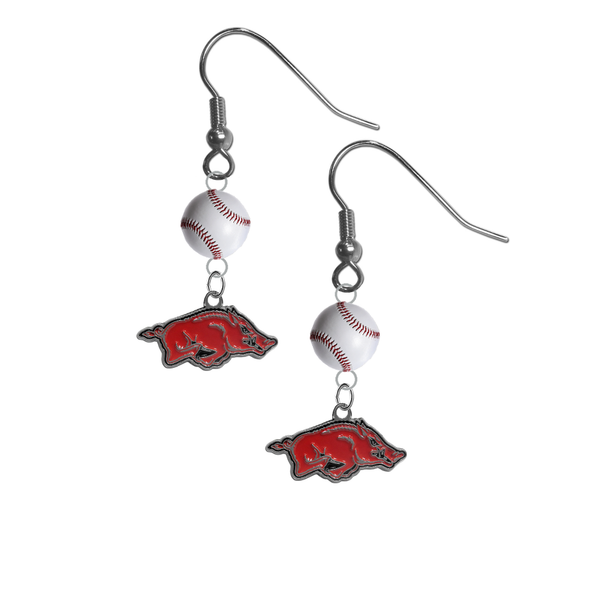 Arkansas Razorbacks NCAA Baseball Dangle Earrings
