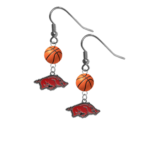 Arkansas Razorbacks NCAA Basketball Dangle Earrings