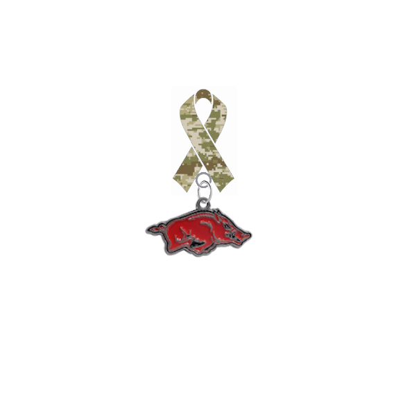 Arkansas Razorbacks Salute to Service Military Appreciation Camo Ribbon Lapel Pin