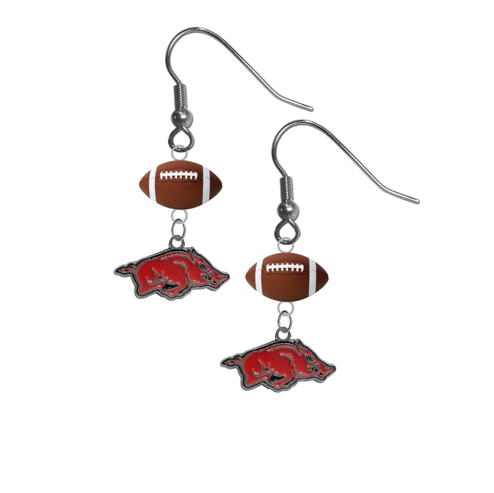Arkansas Razorbacks NCAA Football Dangle Earrings