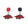 Arkansas Razorbacks RED & BLACK Swarovski Crystal Stud Rhinestone Earrings