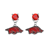 Arkansas Razorbacks RED Swarovski Crystal Stud Rhinestone Earrings