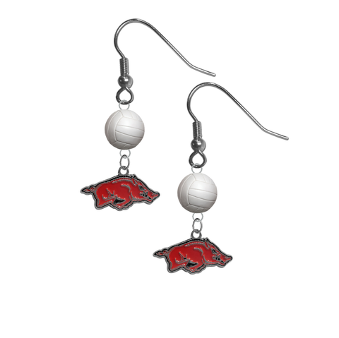 Arkansas Razorbacks NCAA Volleyball Dangle Earrings