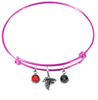 Atlanta Falcons Pink NFL Expandable Wire Bangle Charm Bracelet