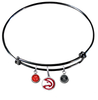 Atlanta Hawks BLACK Color Edition Expandable Wire Bangle Charm Bracelet