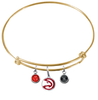 Atlanta Hawks GOLD Color Edition Expandable Wire Bangle Charm Bracelet