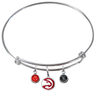 Atlanta Hawks NBA Expandable Wire Bangle Charm Bracelet