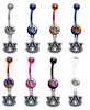 Auburn Tigers NCAA College Belly Button Navel Ring - Pick Your Color