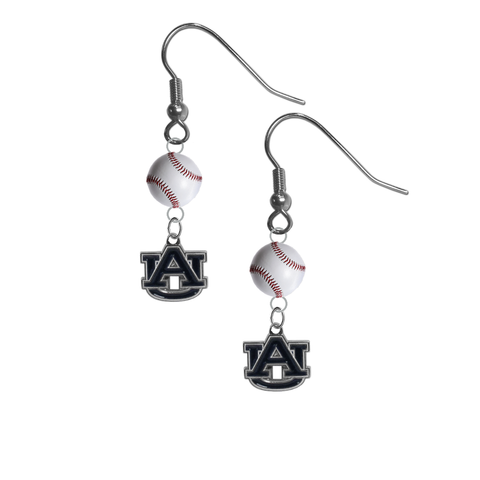 Auburn Tigers NCAA Baseball Dangle Earrings