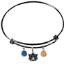 Auburn Tigers Black NFL Expandable Wire Bangle Charm Bracelet