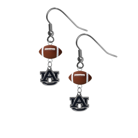 Auburn Tigers NCAA Football Dangle Earrings