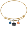 Auburn Tigers Gold NFL Expandable Wire Bangle Charm Bracelet