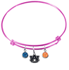 Auburn Tigers Pink NFL Expandable Wire Bangle Charm Bracelet