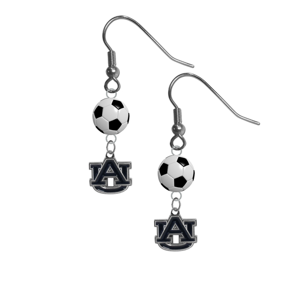 Auburn Tigers NCAA Soccer Dangle Earrings