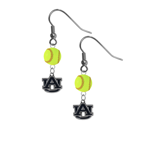 Auburn Tigers NCAA Fastpitch Softball Dangle Earrings