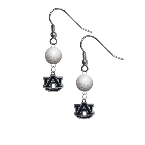 Auburn Tigers NCAA Volleyball Dangle Earrings