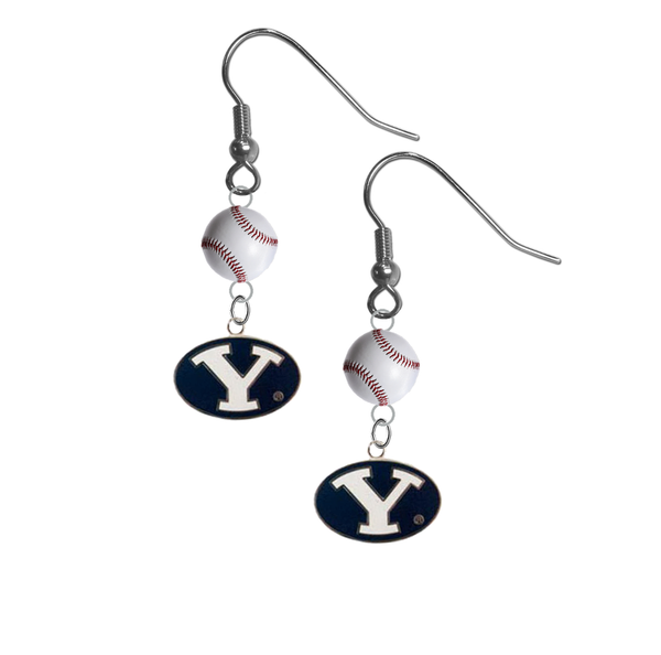 BYU Brigham Young Cougars NCAA Baseball Dangle Earrings