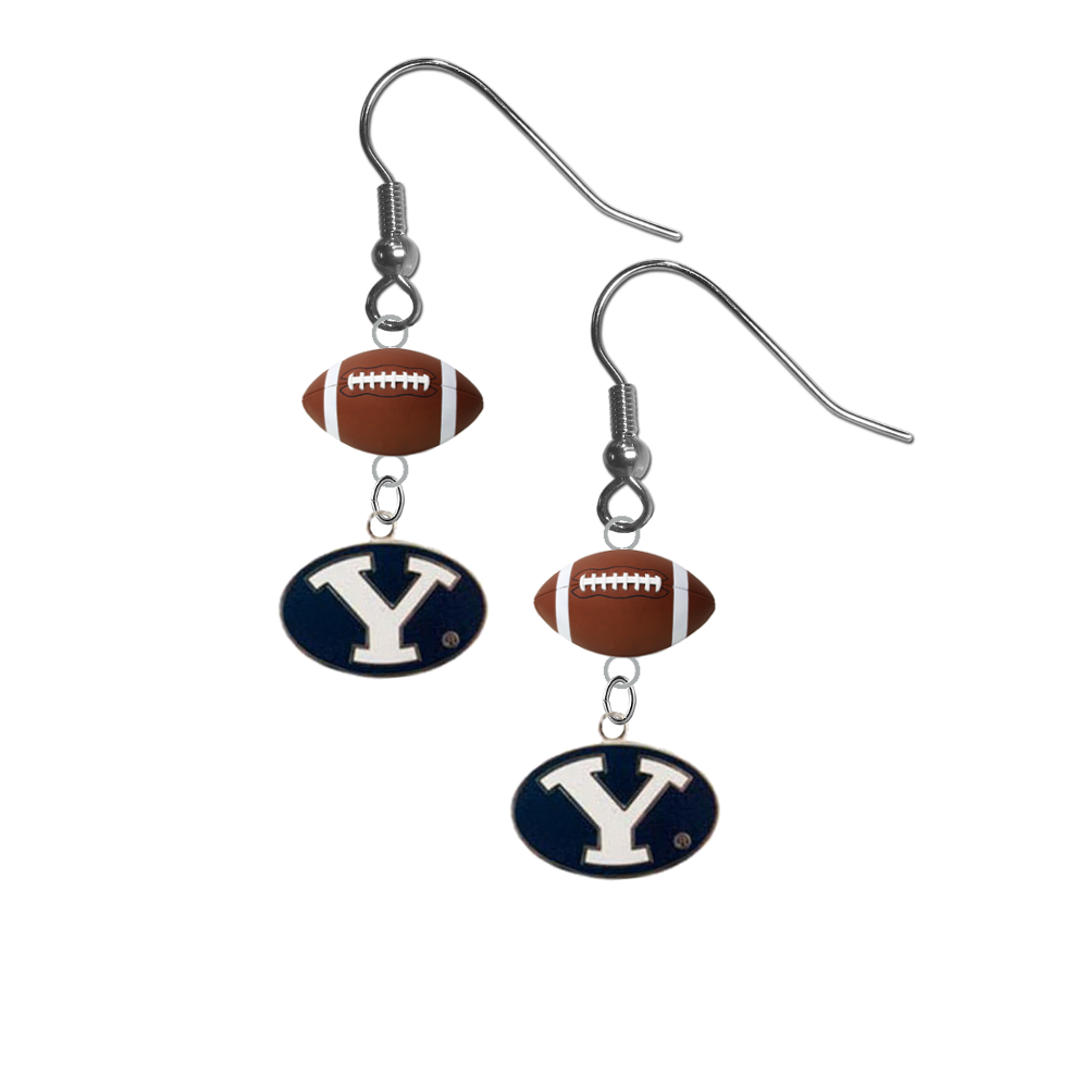 BYU Brigham Young Cougars NCAA Football Dangle Earrings