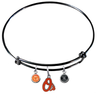 Baltimore Orioles Black MLB Expandable Wire Bangle Charm Bracelet